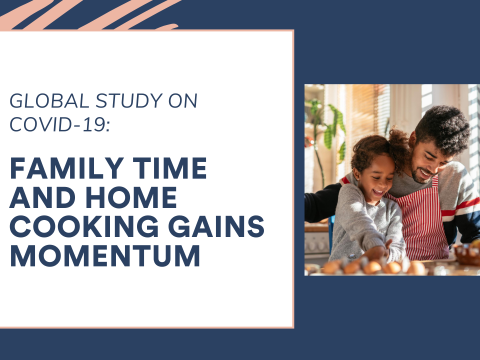Family time and home cooking gains momentum